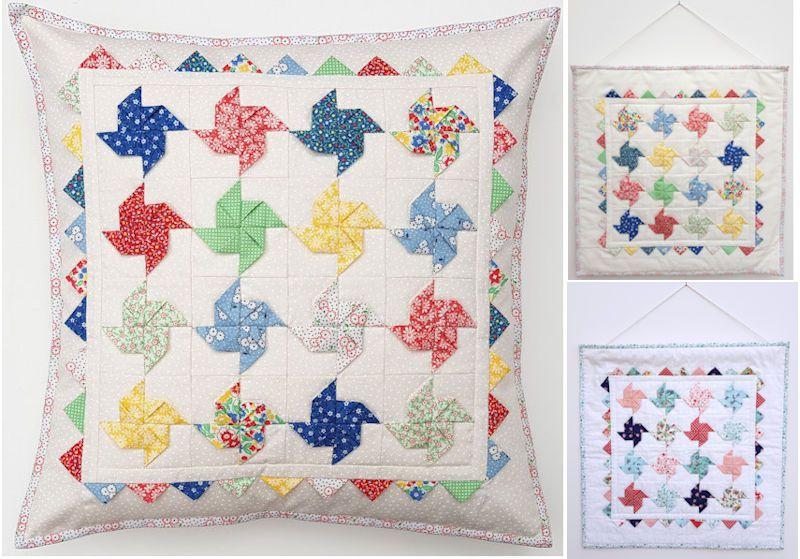Folded Pinwheel Pattern By Secret Garden Quilting