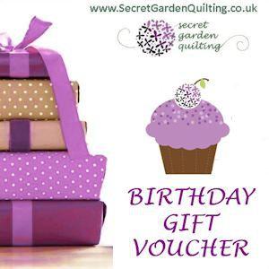 Quilting Gift Vouchers